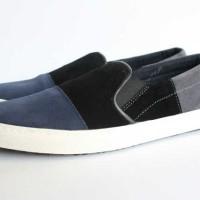 harga Sepatu Pria Black Master Zr 03 Slop Black Formal Casual Santai Kerja Tokopedia.com