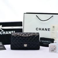 Tas Chanel Classic 25 Lambskin Hitam GHW PL1112