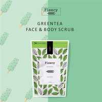 GREEN TEA FLEECY SCRUB FACE & BODY ORIGINAL LULUR WAJAH BADAN BPOM