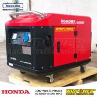 Genset / Generator Honda 3000 Watt, Silent Type (Winpower - HG4600SP)