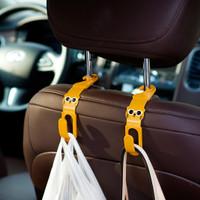 CA033 2Pcs Gantungan Mobil Car Hanger Cartoon Rilakkuma Hanger Hook Ho