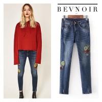 Atasan Sweater Merah Lengan Panjang Wanita Bevnoir