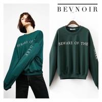 Atasan Sweater Wanita Hijau Army Bevnoir