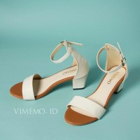 Sepatu Heels LUMIERE BROWN WHITE Vimemo