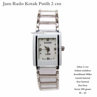 jam tangan wanita rado kotak putih 2cm fullset