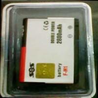 Baterai SOS Double Power for Blackberry FM1 - 2800mAh Pearl / style