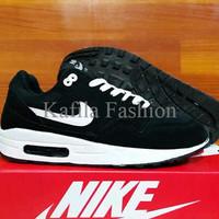 Harga Promo Sepatu Nike Olahraga Nike Airmax One Hitam Putih Black Run