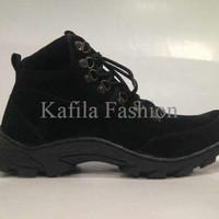 Harga Promo Sepatu Tracking Gunung Humm3r Boots Pria Wanits Full Black
