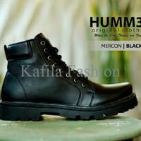 Harga Promo Sepatu Kerja Humm3r Boots 6 Hold Hitam Coklat Black Pria M