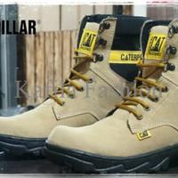 Harga Promo Sepatu Boots Caterpillar Safety Coklat Tan Cream Hitam Mur
