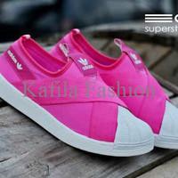 Harga Promo Sepatu Adidas Super Star Slop Slip On Pink Women Wanita Se