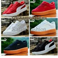 Harga Promo Sepatu Puma Sneakers Womem Boots Merah Full White Putih (