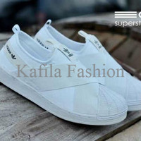 Harga Promo Sepatu Adidas Super Star Slop Slip On Putih Women Wanita S