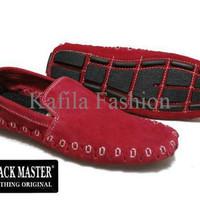 Harga Promo Sepatu Kerja Black Master Casual Slop Santai Hitam Biru Ab