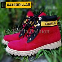 Harga Promo Sepatu Caterpillar Middle Boots Women Wanita Grey Abu Hita