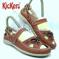 Harga Promo Sepatu Sendal Slop Flat Kickers Women Wanita Cokltan Biru
