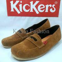 Harga Promo Sepatu Casual Santai Kickers Slop Women Wanita Hitam Cokla