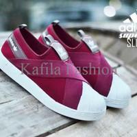 Harga Promo Sepatu Adidas Super Star Slop Slip On Merah Women Wanita S