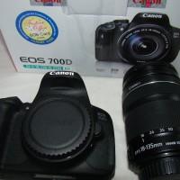 Camera Canon DSLR Eos 700D + kit Lensa 18-55mm New