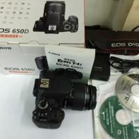 Camera Canon DSLR Eos 650D + kit Lensa 18-55mm New