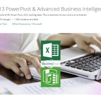 Jual video tutorial : Excel 2013 PowerPivot & Adv Business Intelligence Murah