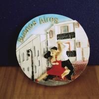 souvenir tahun baru magnet kulkas negara argentina