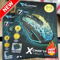 [ALCATROZ] X-Craft AIR TRON 5000 Wireless MACRO Gaming Mouse. RESMI