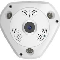 IP Camera Wireless Fish Eye 360 Panoramic Lens VR / Kamera Panoramik