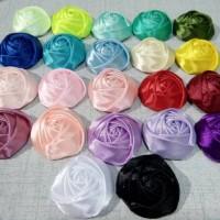 Rosebud 3sisi aplikasi hijab bros 3,5cm harga/lusin