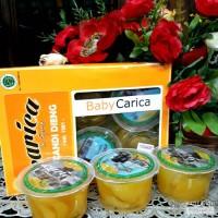 minuman/manisan buah carica dieng 125 gr (box isi 6 cup)