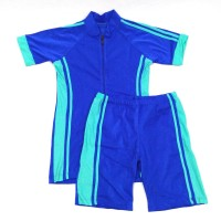 Baju Renang Dewasa Setelan Celana Diving Pria Wanita Biru Neon
