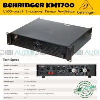 harga Behringer KM1700 / KM 1700 Power Amplifier Speaker Pasif 1700 Watt Tokopedia.com