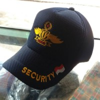 Topi security / satpam logo sayap
