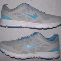 sepatu running wanita empuk,bisa utk olahraga jogging/fitnes, abu biru