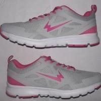 sepatu running wanita empuk,bisa utk olahraga jogging/fitnes, abu pink