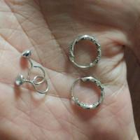 Anting Bayi Silver lapis Emas putih