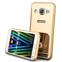 Samsung A3 2015 A300 Bumper Slide Mirror Case - GOLD