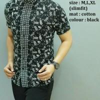 Baju Fashion Kemeja Pria Batik Modern Slim fit lengan pendek BT-283