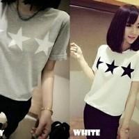 Kaos star-polos-baju santai-fashion wanita-tshirt model baru-sale-SH