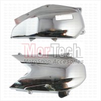 Aksesoris cover - tutup CVT + Filter Vario FI 125 cc Chrome Crom Krom