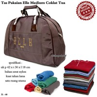 Tas Travel Kulit ELE Medium coklat tua