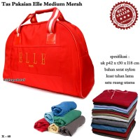 Tas Travel Kulit ELE Medium merah