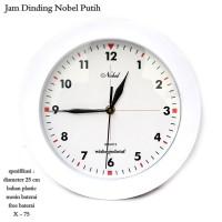 jam dinding putih / jam dinding polos / jam dinding nobel putih