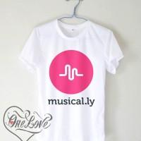 Kaos Sosmed Musicaly Logo - Kaos Combet - Kaos Custom