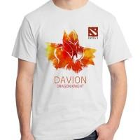 T-Shirt (Kaos) karakter logo dota 2 Davion Dragon Knight