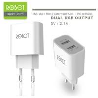 Adaptor Dual Port USB Vivan ROBOT / Safe And Speed Char Diskon