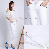 celana panjang wanita/skinny/soft jeans/street/putih