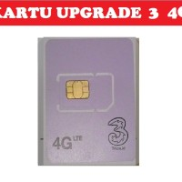 Kartu Perdana Upgrade 4G Tri Three 3 - BONUS Kuota 30GB - SENDIRI