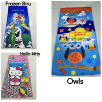 Handuk Anak Microfiber, Gambar Karakter : Frozen, Hello kitty, Owl