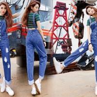 harga New Series Ripped Baju Overall Celana Kodok Washed Jeans Tokopedia.com